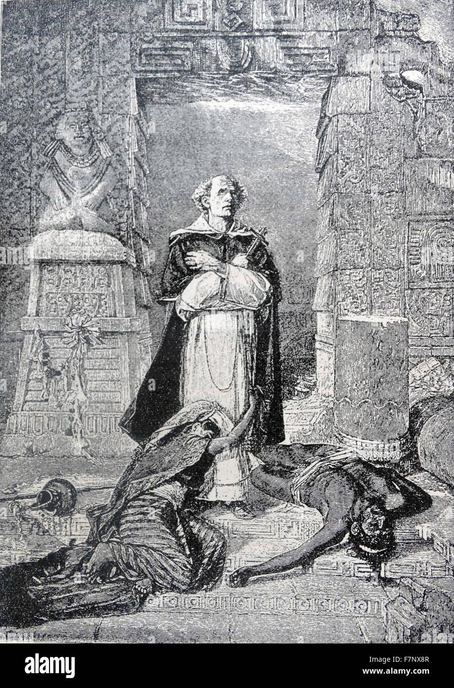 Bartolomé de las Casas, O.P. (c. 1484[1] – 18 July 1566) was a 16th-century Spanish historian, social reformer - Stock Image