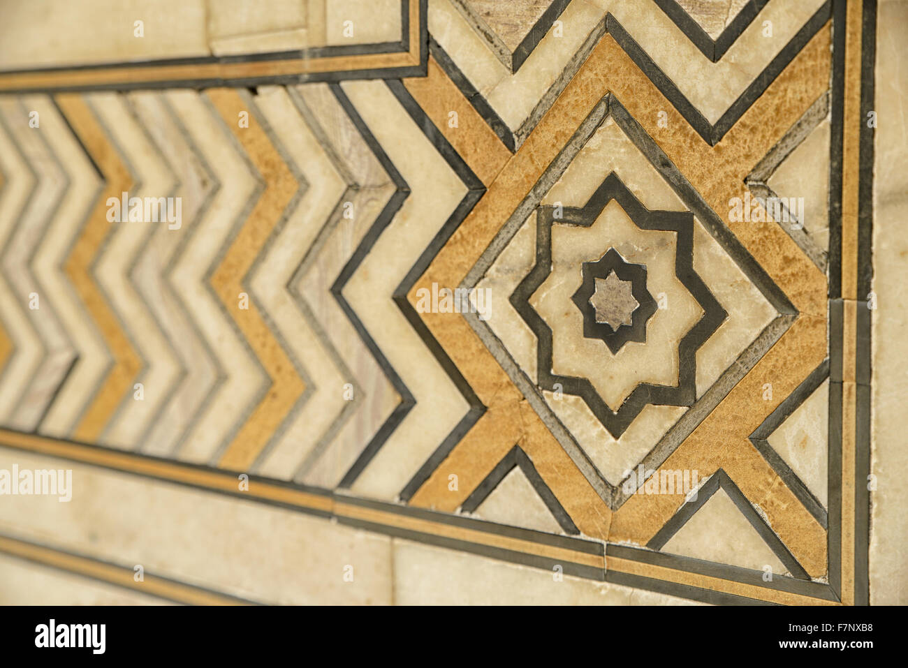 Detail of Decorating the Taj Mahal,Agra,India - Stock Image