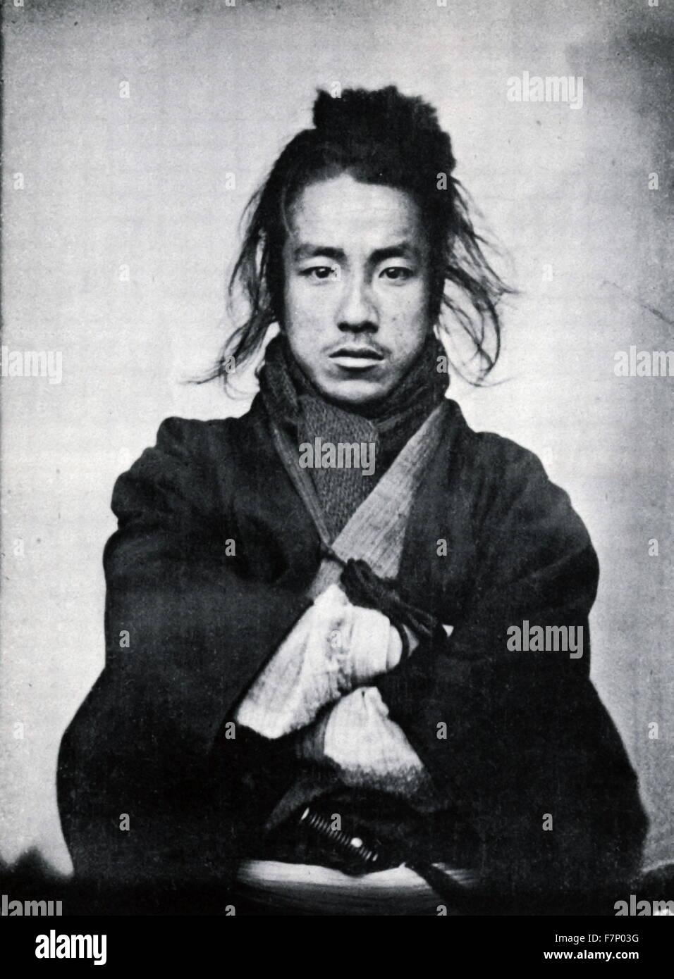 1860's photo of a Japanese Samurai - Stock Image