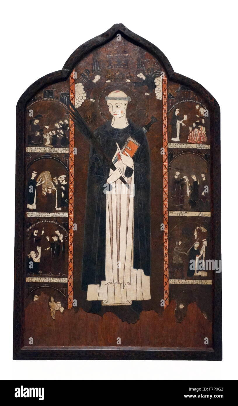 Altar of St. Peter Martyr by Anonymous. Dated 10th Century - Stock Image