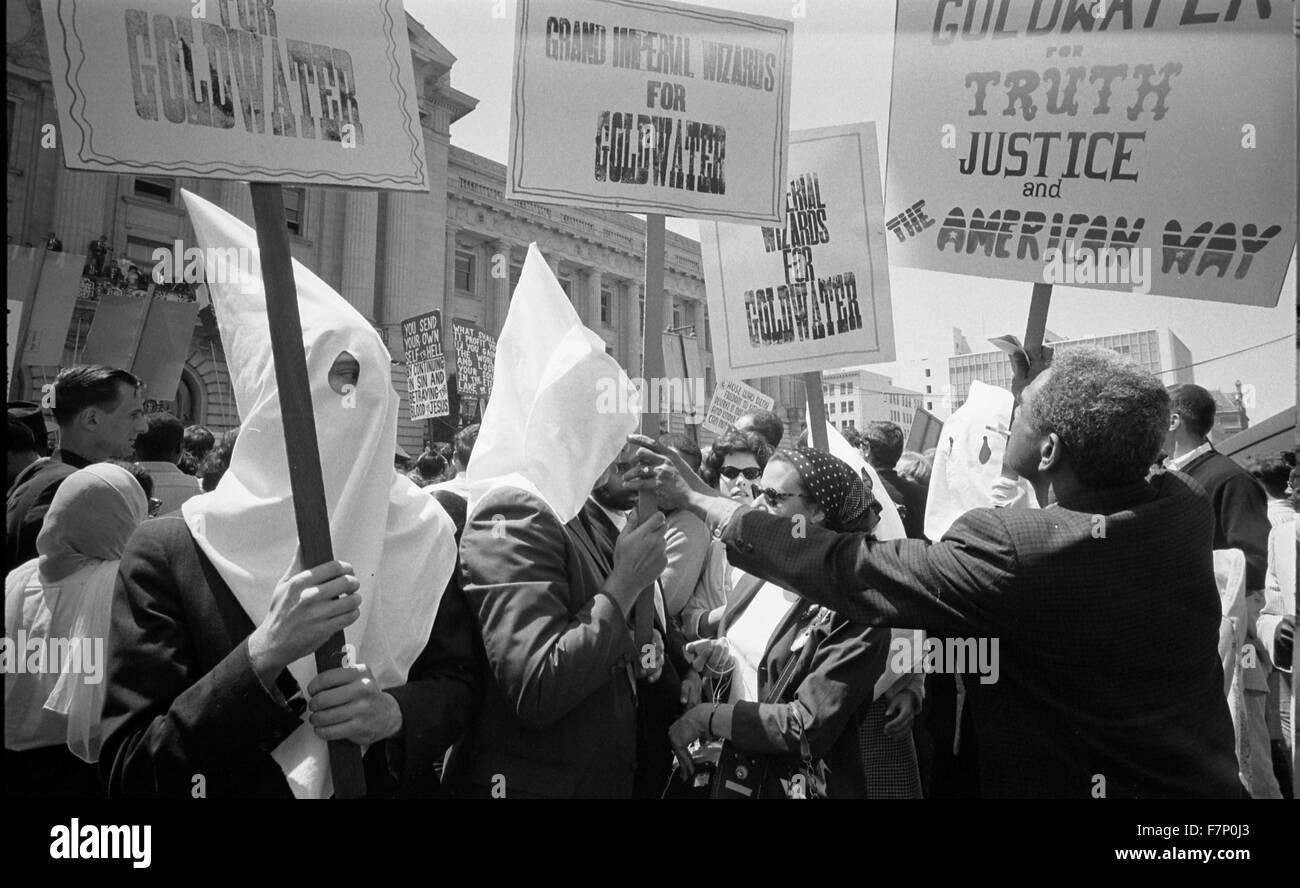 Ku Klux Klan supporting Barry Goldwater's campaign for presidential nomination Republican National Convention - Stock Image
