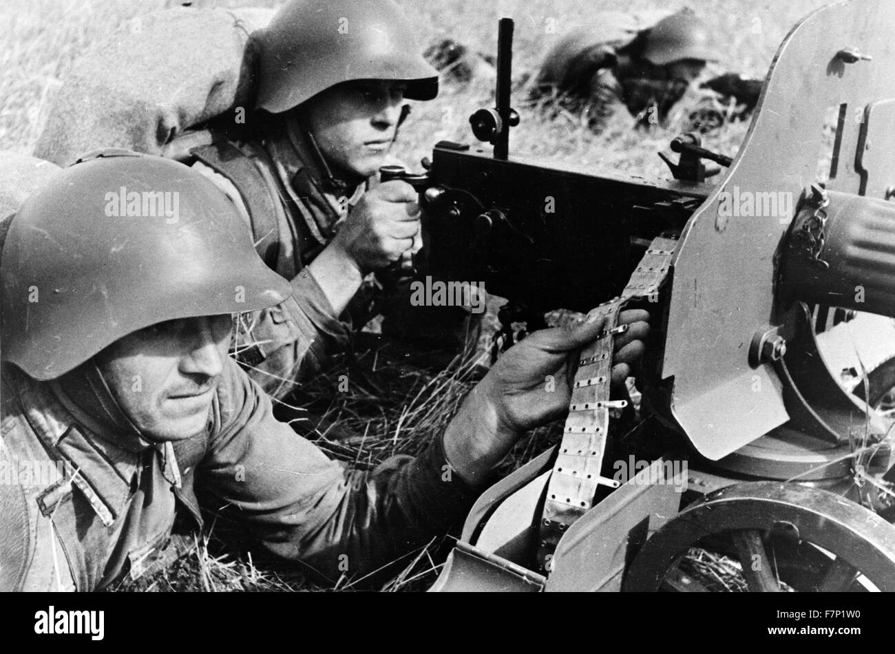 World war two, Red Army in the far eastern territory of the USSR 1941 - Stock Image