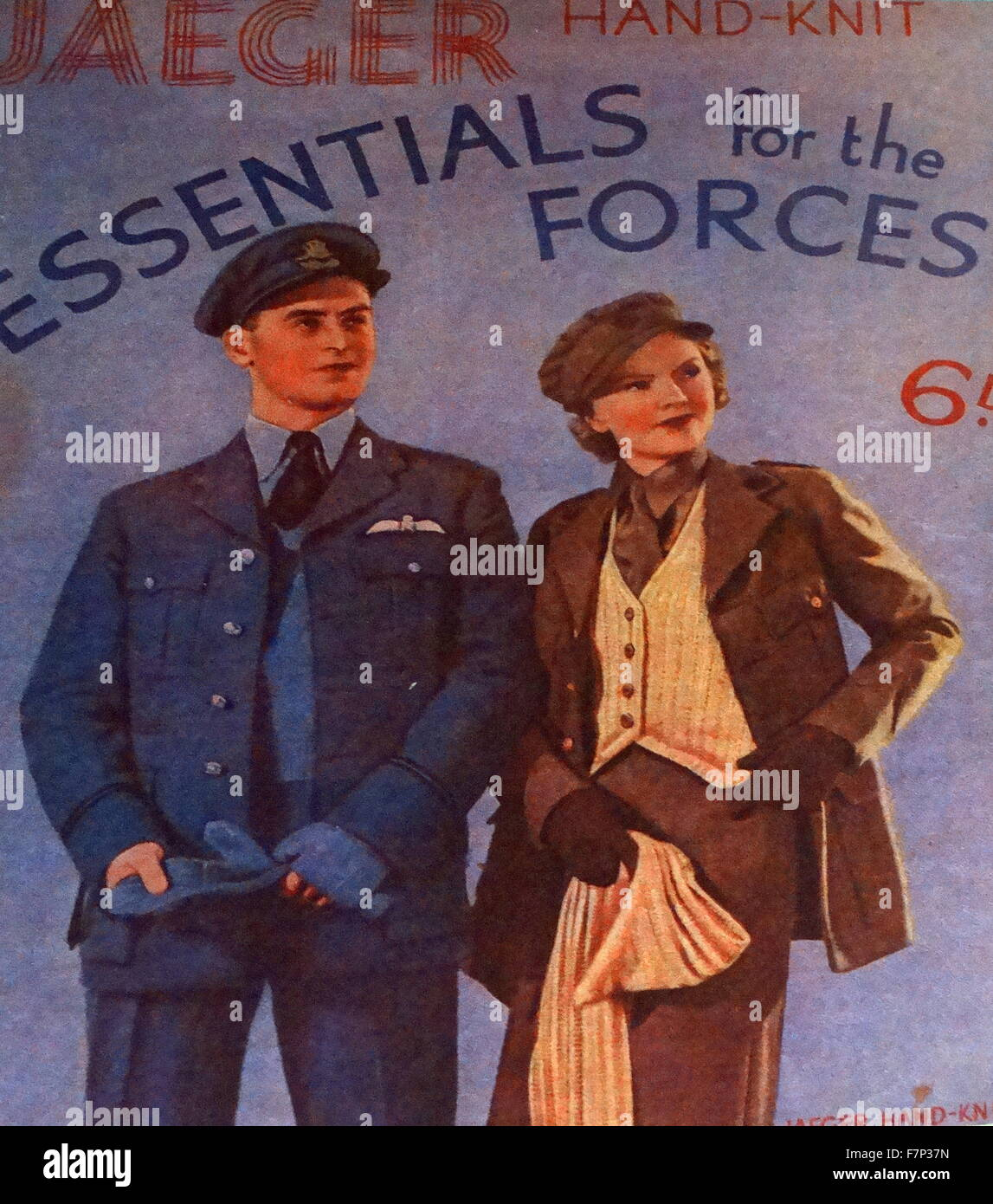 Second World War poster. Dated 1939 - Stock Image
