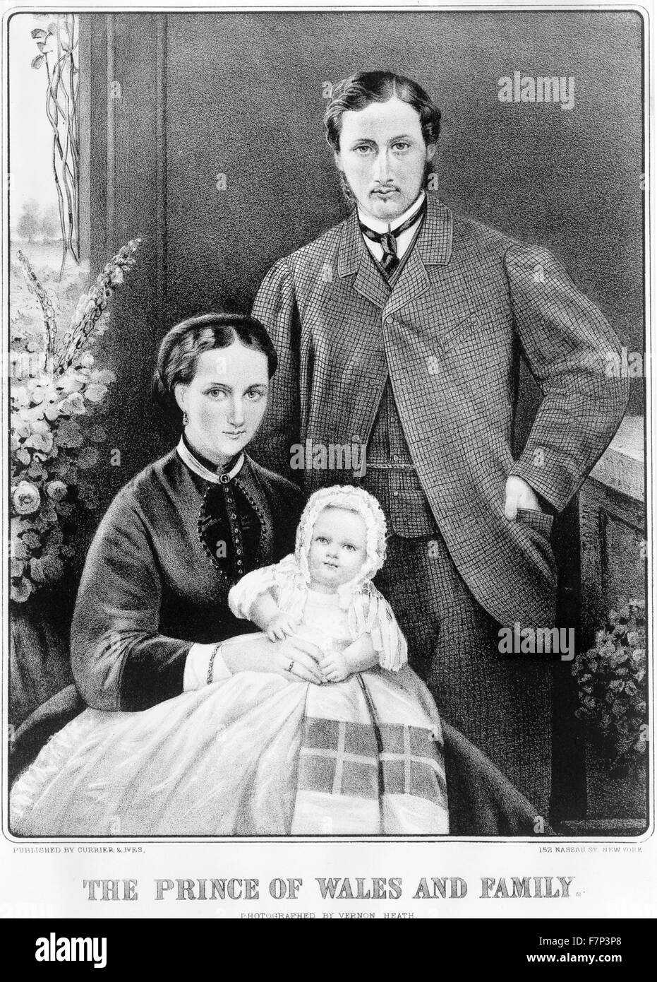 portrait of (King Edward VII) as Prince of Wales (1841-1910) with family. Dated 1870 - Stock Image