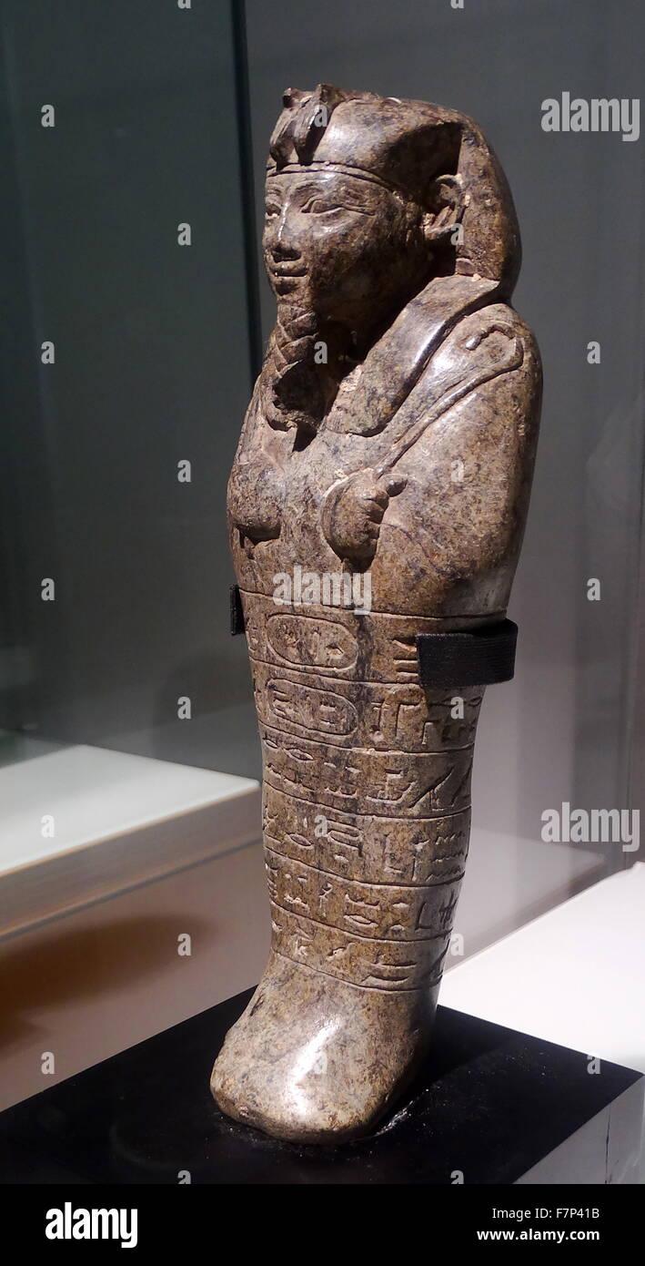 Ushabti of Senkamanisken. Serpentine. King Senkamanisken, Nuri, Napatan Period (643-623 B.C.). Stock Photo