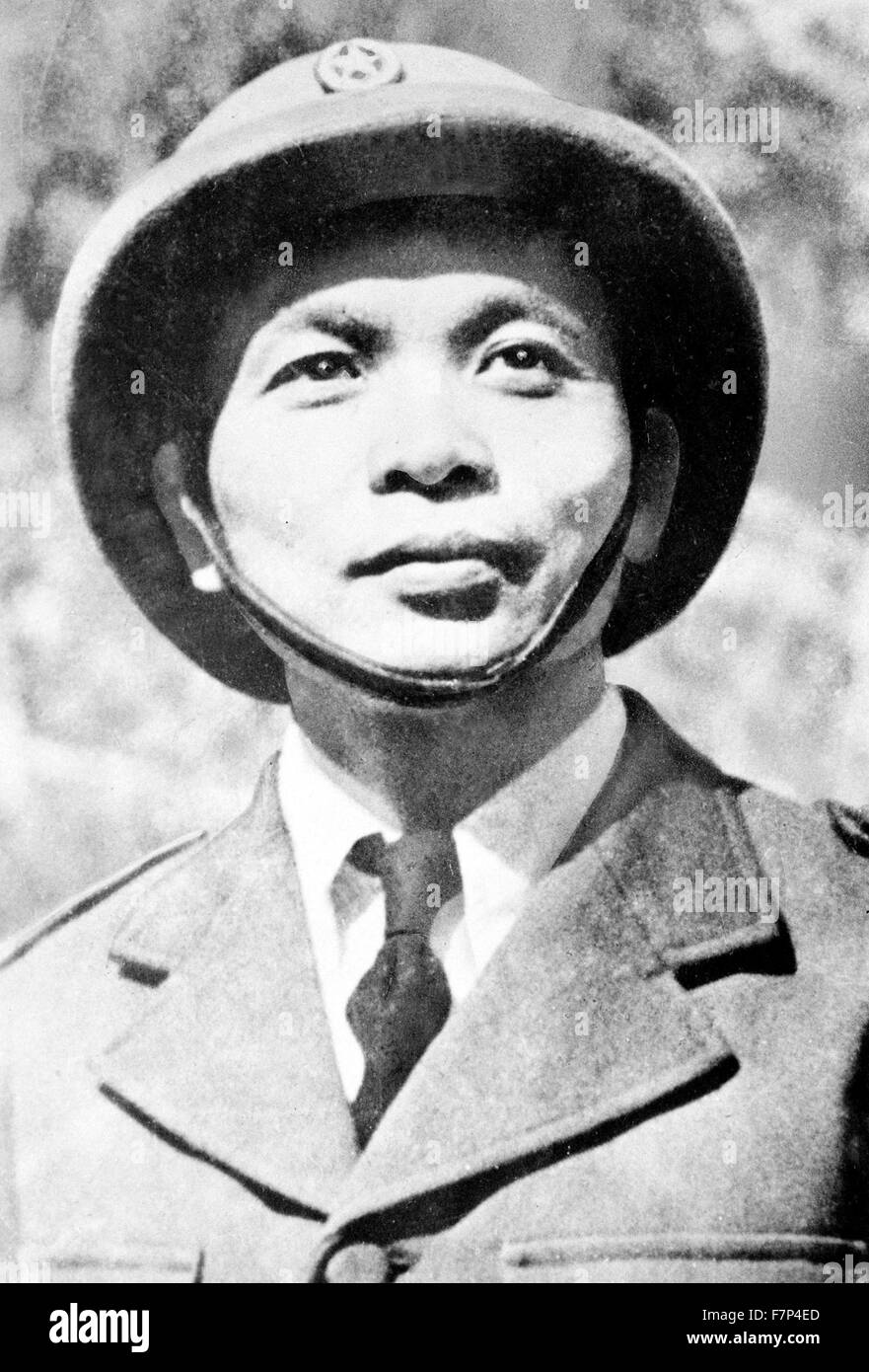 Photograph of General Vo Nguyen Giap (1911-2013) General in the Vietnam People's Army and a politician. Dated - Stock Image