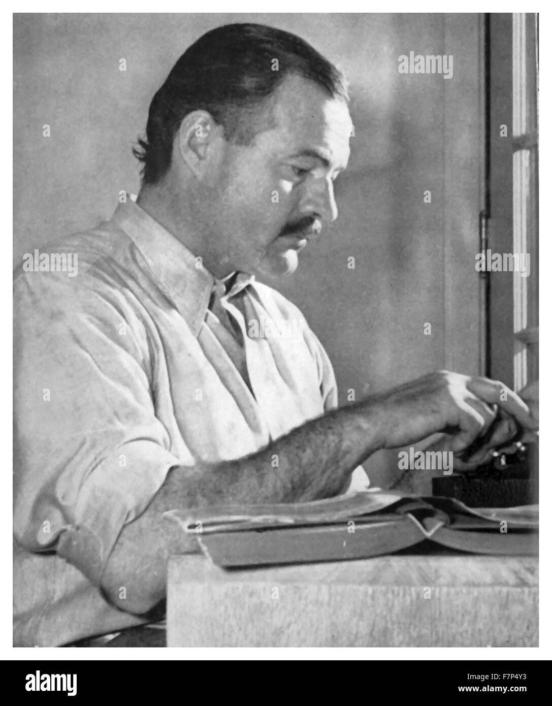 Ernest Hemingway (21st July 1899- 2nd July 1961) , American writer. - Stock Image