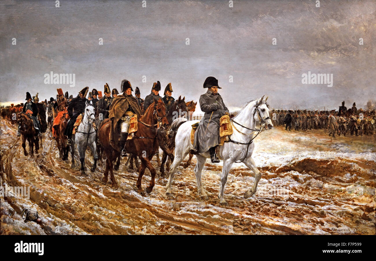 Campaign of France ( Emperor Napoleon ) 1814 Ernest Meissonier (1815-1891) French France - Stock Image