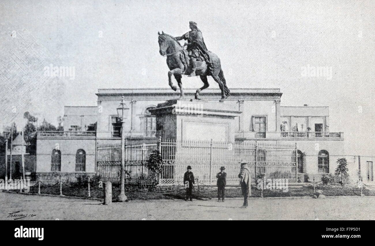 statue of King Charles IV (1748 – 1819) of Spain in Mexico City 1890 - Stock Image