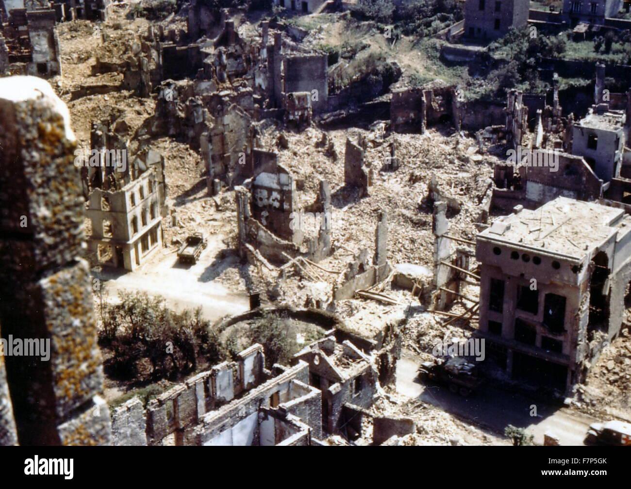 World War II ruins of Berlin 1945 - Stock Image
