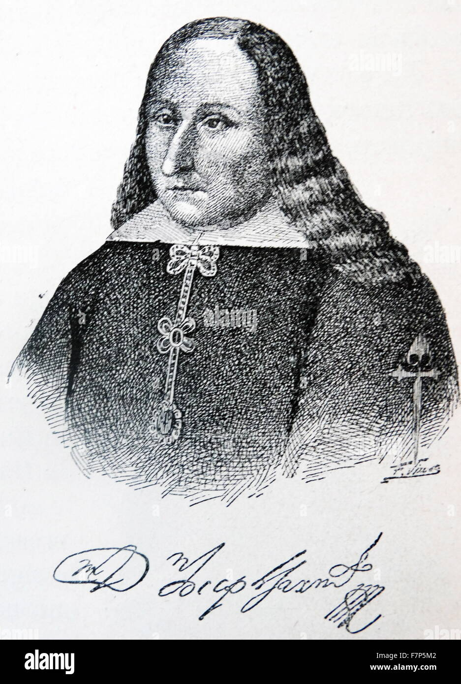 José Sarmiento de Valladares y Arines-Troncoso Romay, 1st Duke of Atrisco, Grandee of Spain, jure uxoris Count - Stock Image