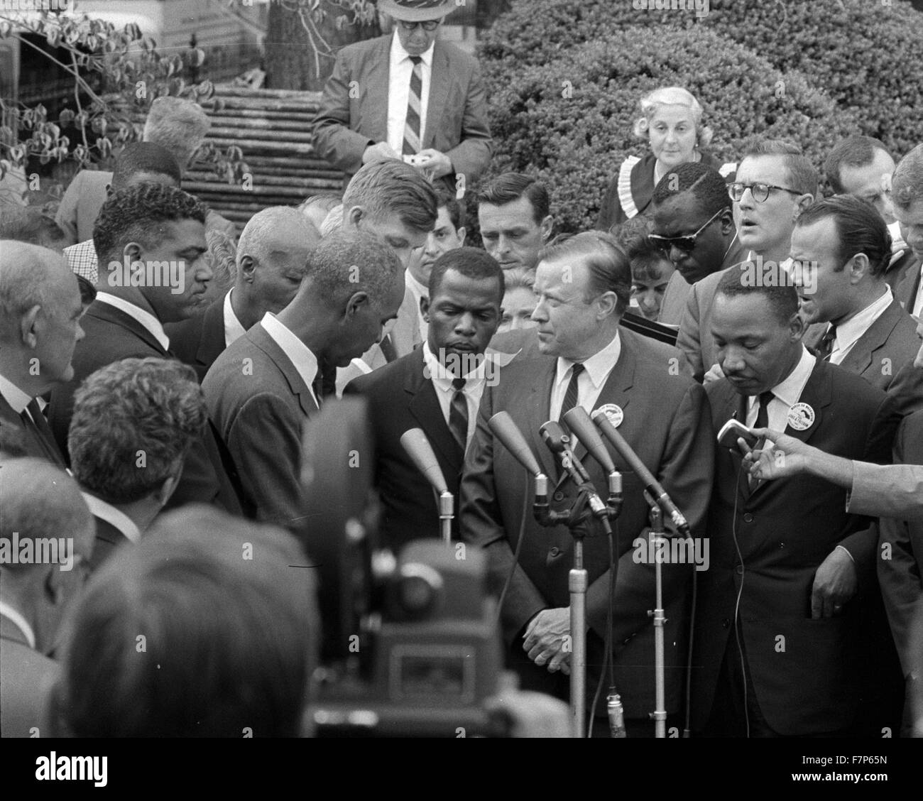 Photograph of Civil Rights leaders meeting with President John F. Kennedy (1917-1963) American politician. Dated - Stock Image