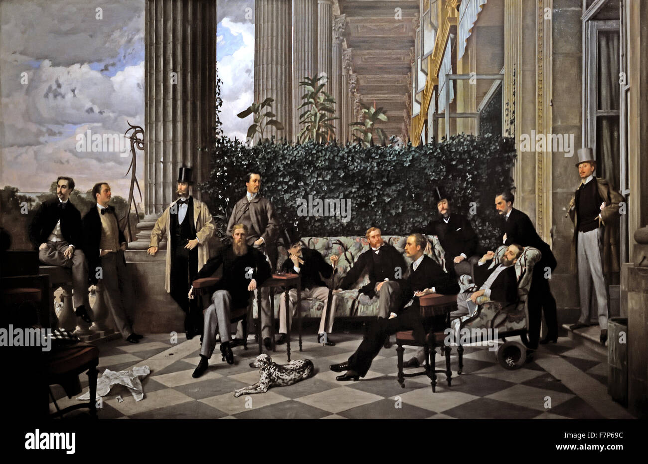 The circle of the Rue Royale ( Paris ) 1868 Tissot James 1836 -1902 French France - Stock Image