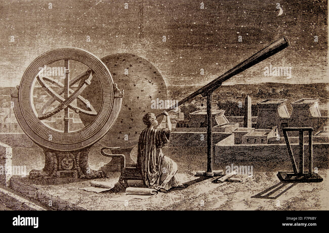 Hipparchos (146 - 127 BC) Impression of the Greek Astronomer, depicted in Alexandria - Stock Image