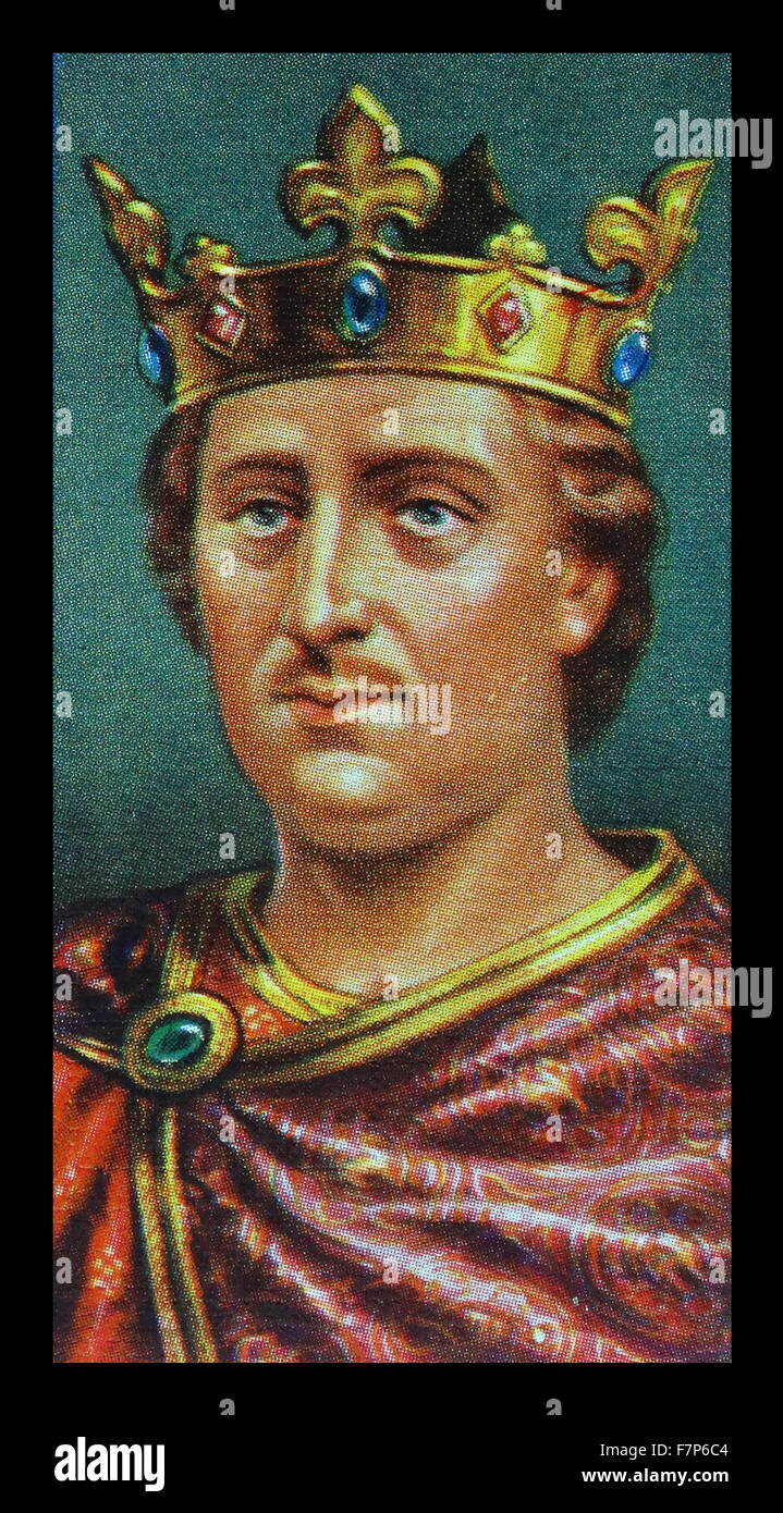 HENRY II (1133-89) king of England from 1154;first Plantagenet king of England. - Stock Image