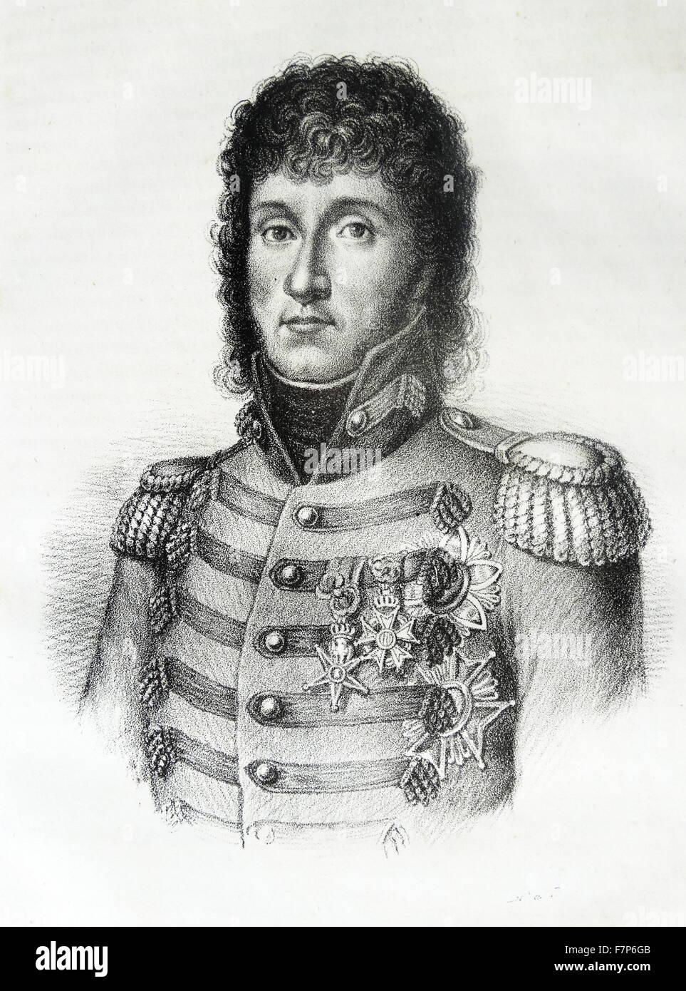 Marshal Joachim-Napoléon Murat ( 1767 – 1815) King of Naples from 1808 to 1815. - Stock Image
