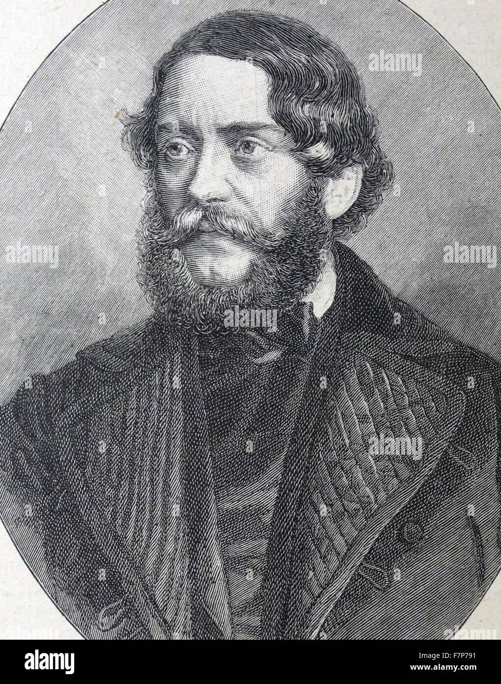 Lajos KOSSUTH - 1802-94 Hungarian revolutionary - Stock Image