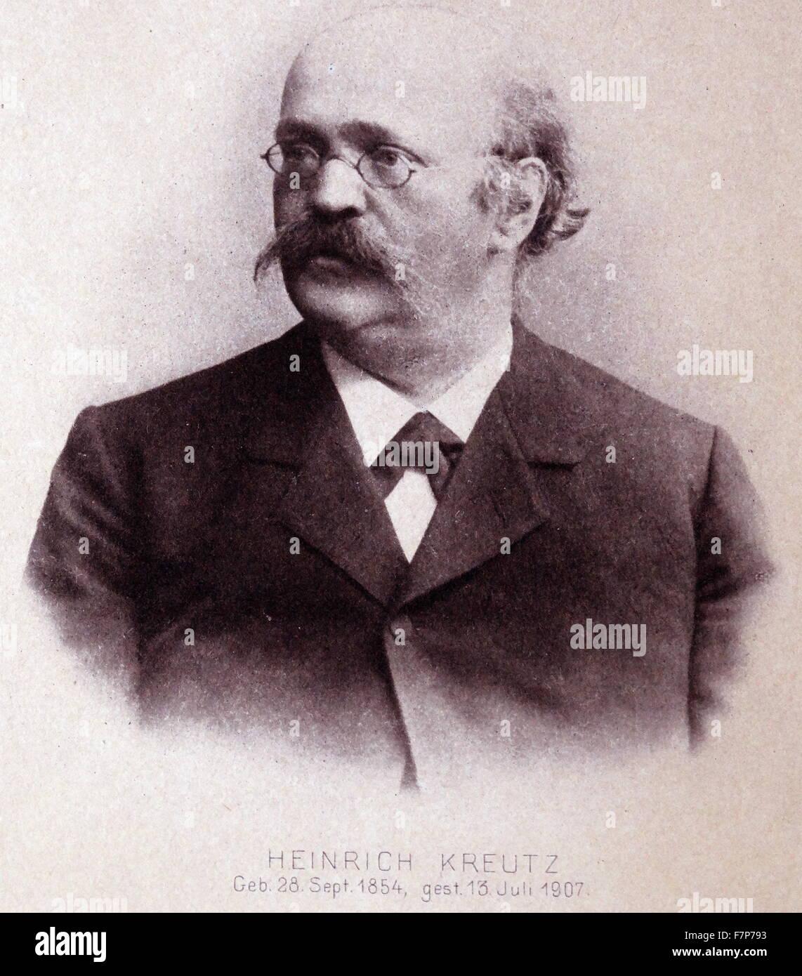 Heinrich KREUTZ 1854-1907 (German astronomer) - Stock Image