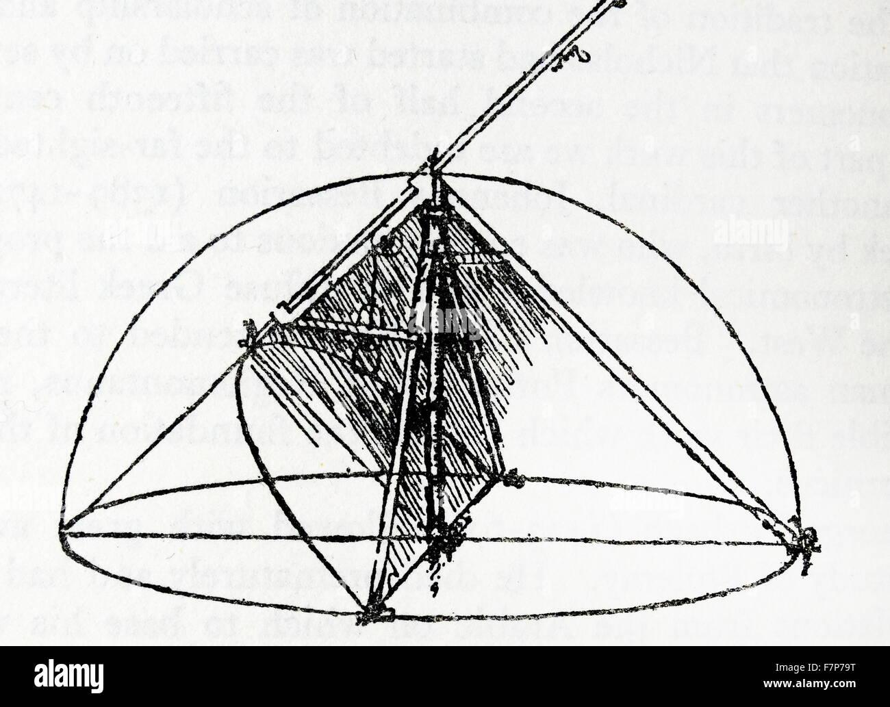 Parabolic Cinoass Leonardo da Vinci - Stock Image