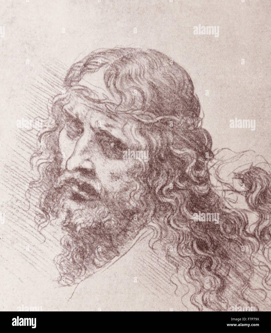 Christ, as imagined by Leonardo Da Vinci. - Stock Image
