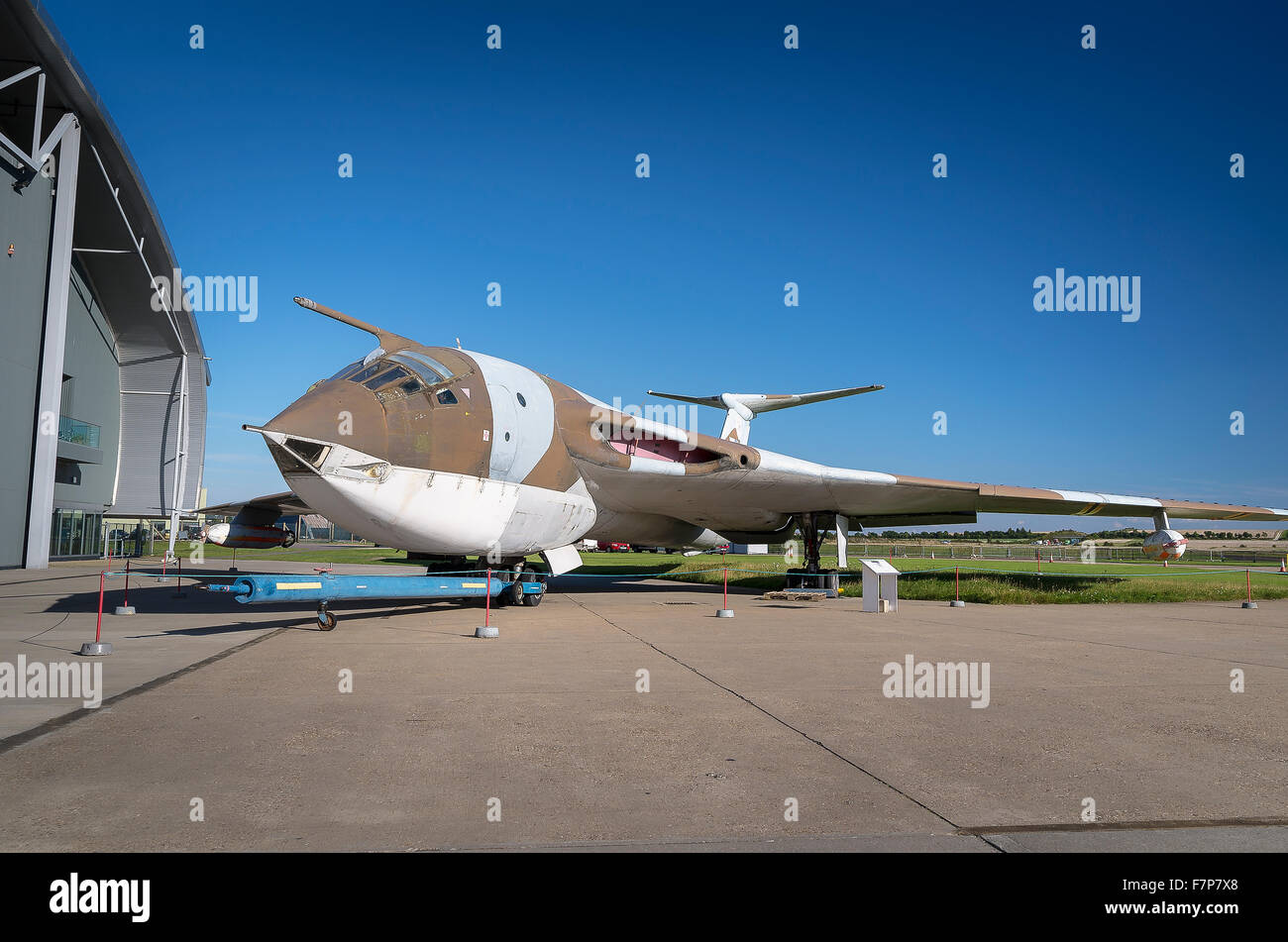 Handley Page Victor V bomber at Duxford museum - Stock Image