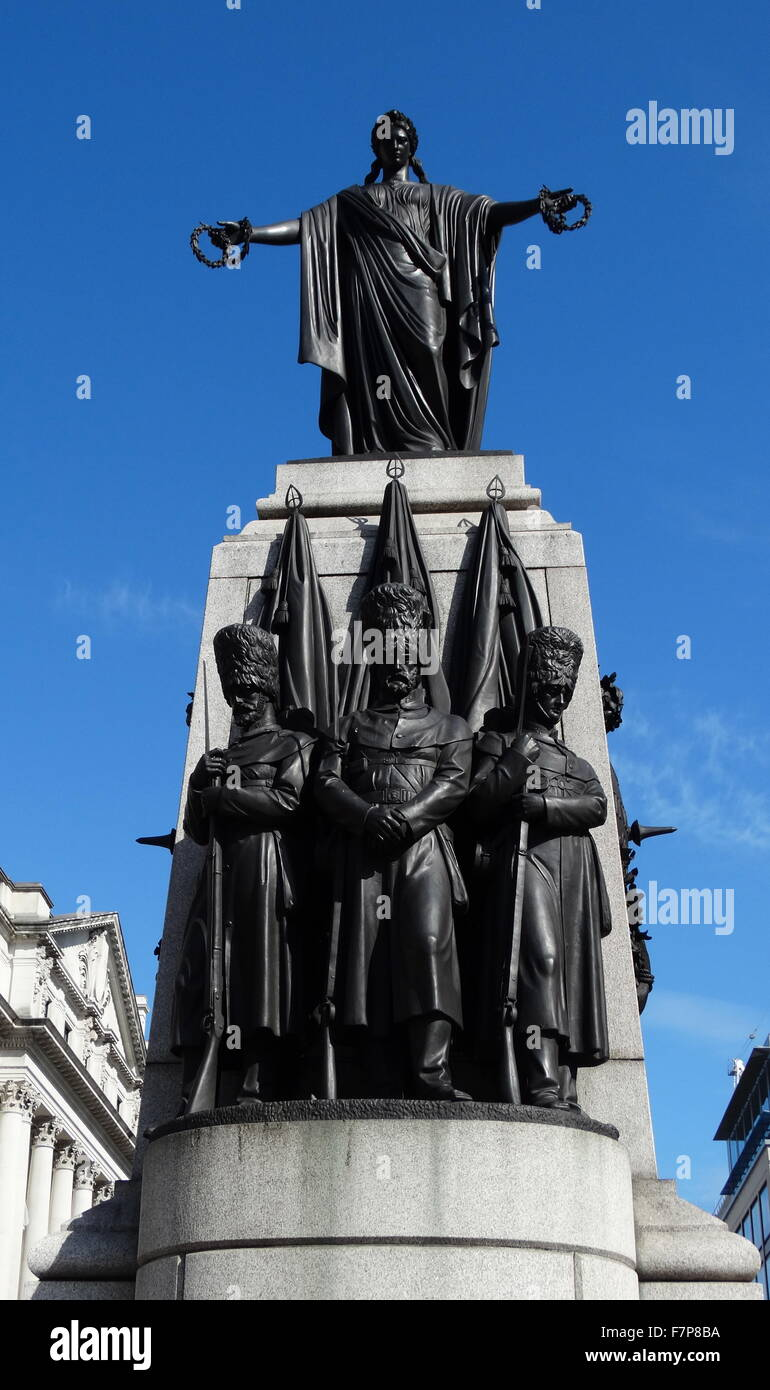 The Crimean War Memorial in St James's, London - Stock Image