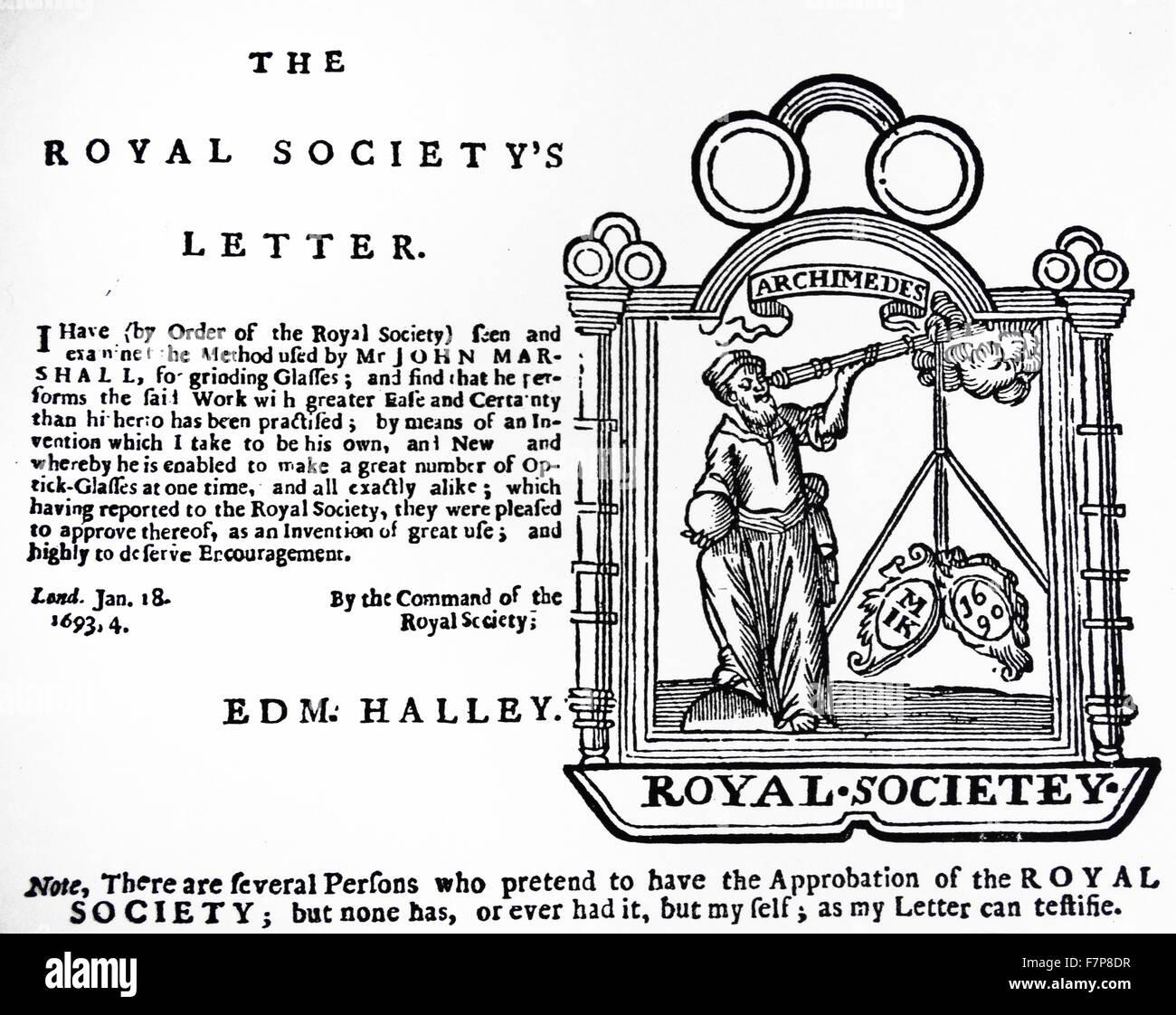 Advertisement of John Marshall, Optician, 1964. - Stock Image