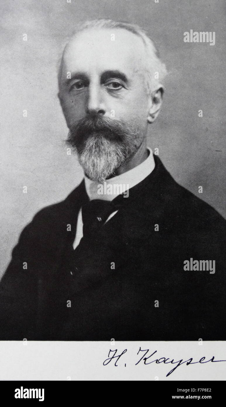 Heinrich Kayser 1853-1940 - Stock Image