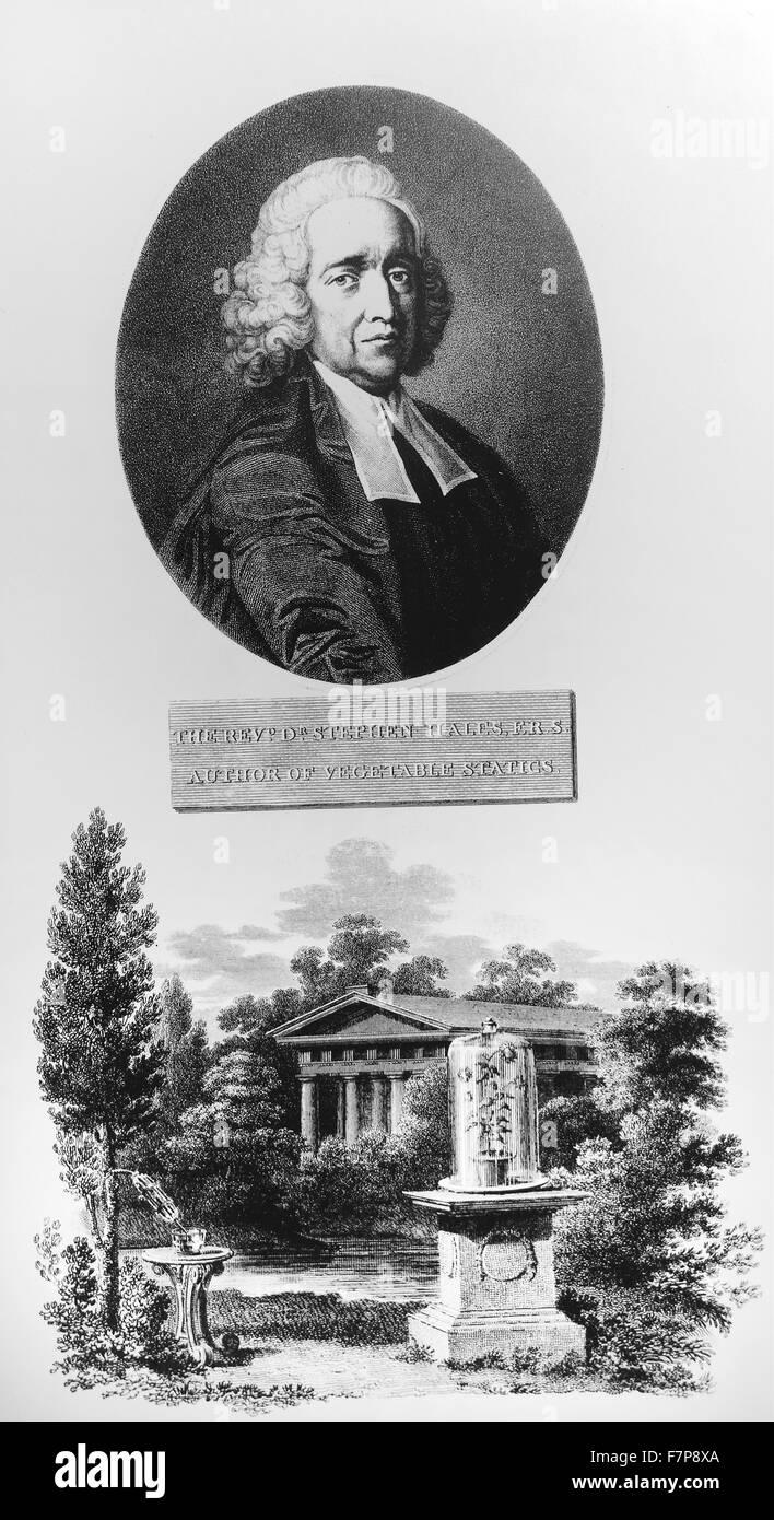 Stephen HALES 1677-1761 - Stock Image