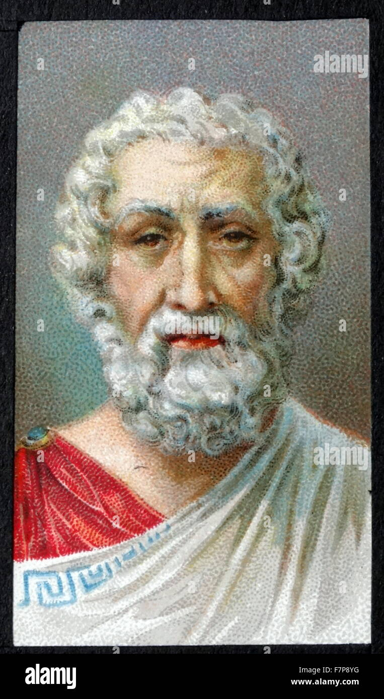 HOMER - 8th century BC Greek epic poet. - Stock Image