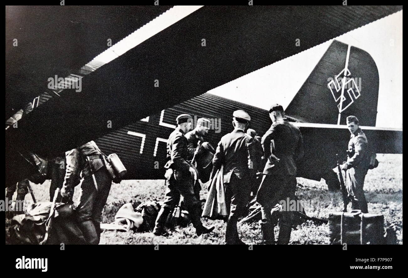 Aircraft of the German condor legion which fought along side General Francso's forces in the Spanish civil war. - Stock Image