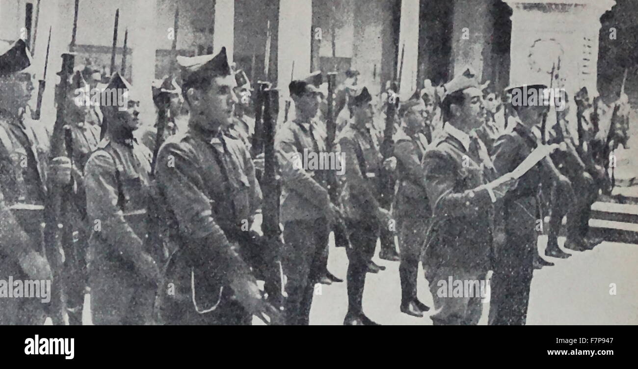 the army uprising which marked the beginning of the Spanish Civil War - Stock Image