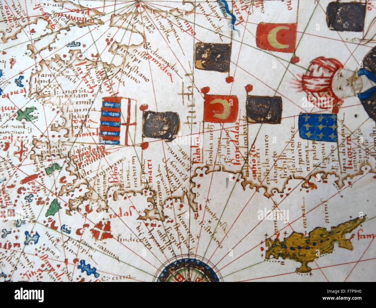 Renaissance Map Of Europe Jacopo Russo 1528 Detail Of Turkey And