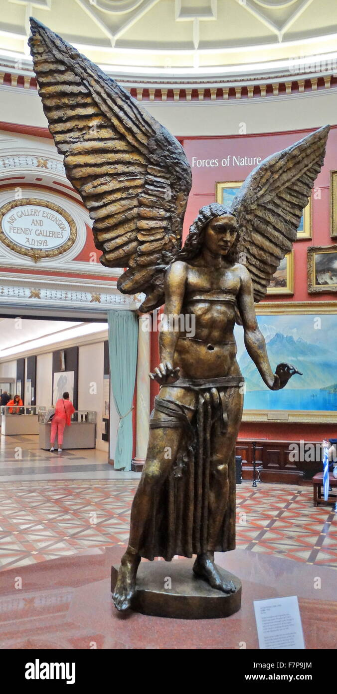 Jacob Epstein (1880-1959), Lucifer, 1945, bronze sculpture was inspired by John Milton's epic poem 'Paradise - Stock Image