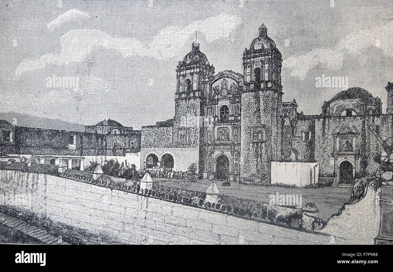The Church and monastery of Santo Domingo de Guzmán, a Baroque building in Oaxaca, Mexico. Begun in 1570, they - Stock Image