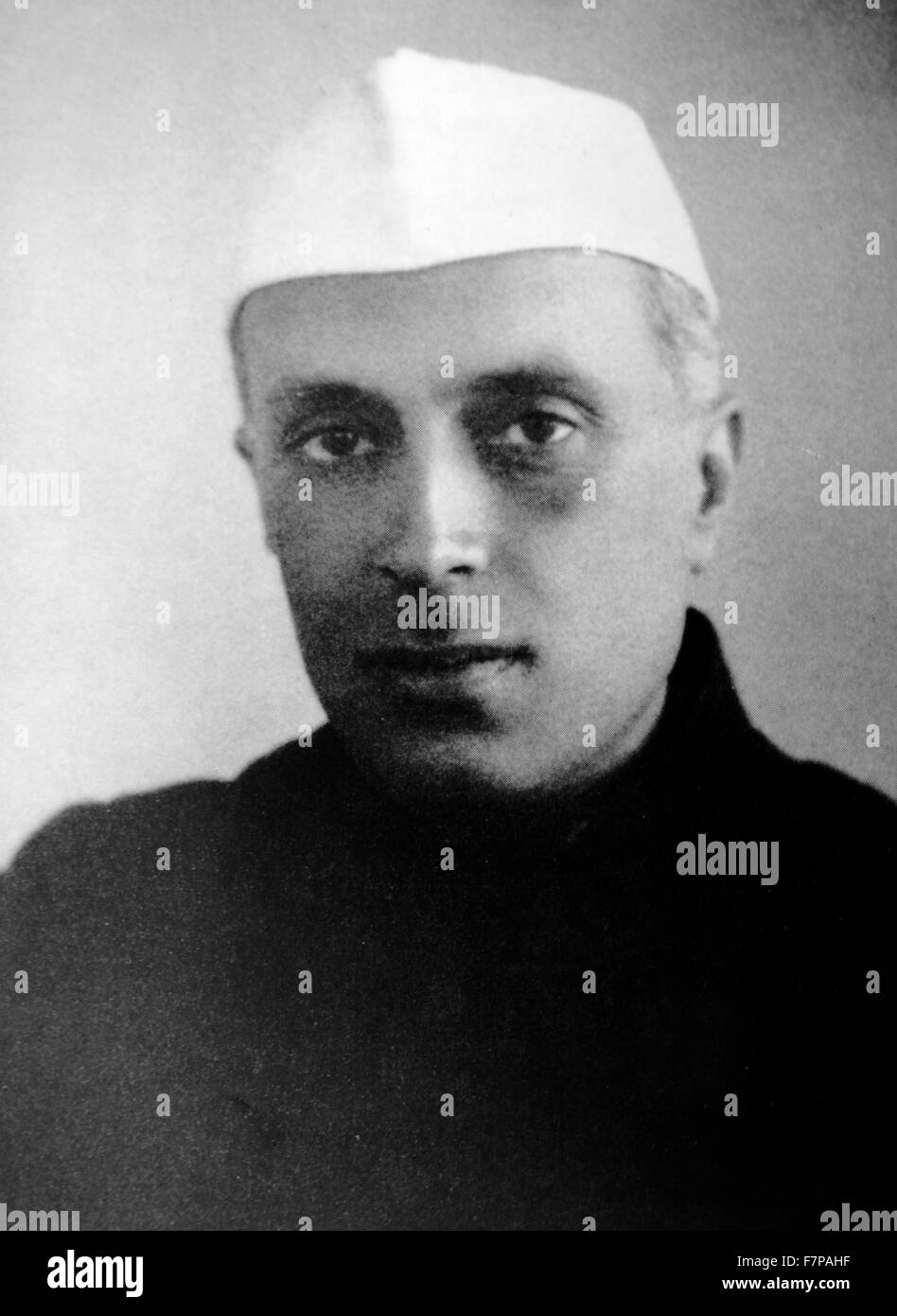 Jawaharlal Nehru 1889 – 1964. first Prime Minister of India and a central figure in Indian politics for much of - Stock Image