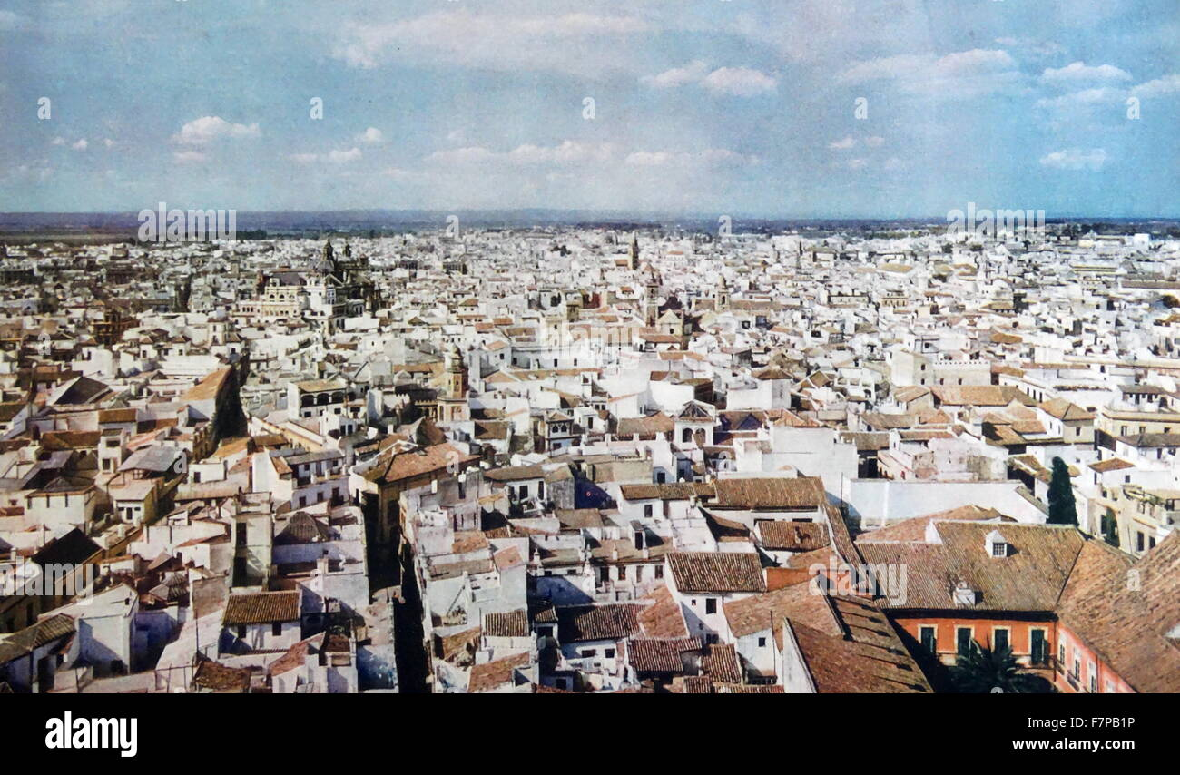 spanish city of seville just before the spanish civil war 1936 stock