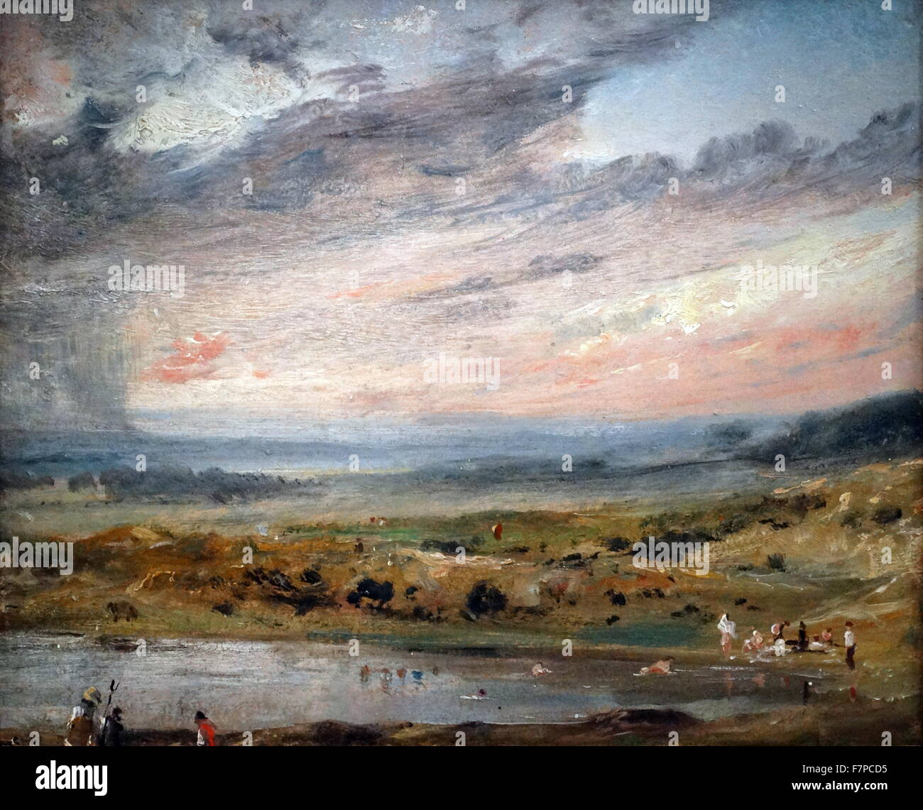 Painting by John Constable (1776-1837) English Romantic painter. Dated 19th Century Stock Photo