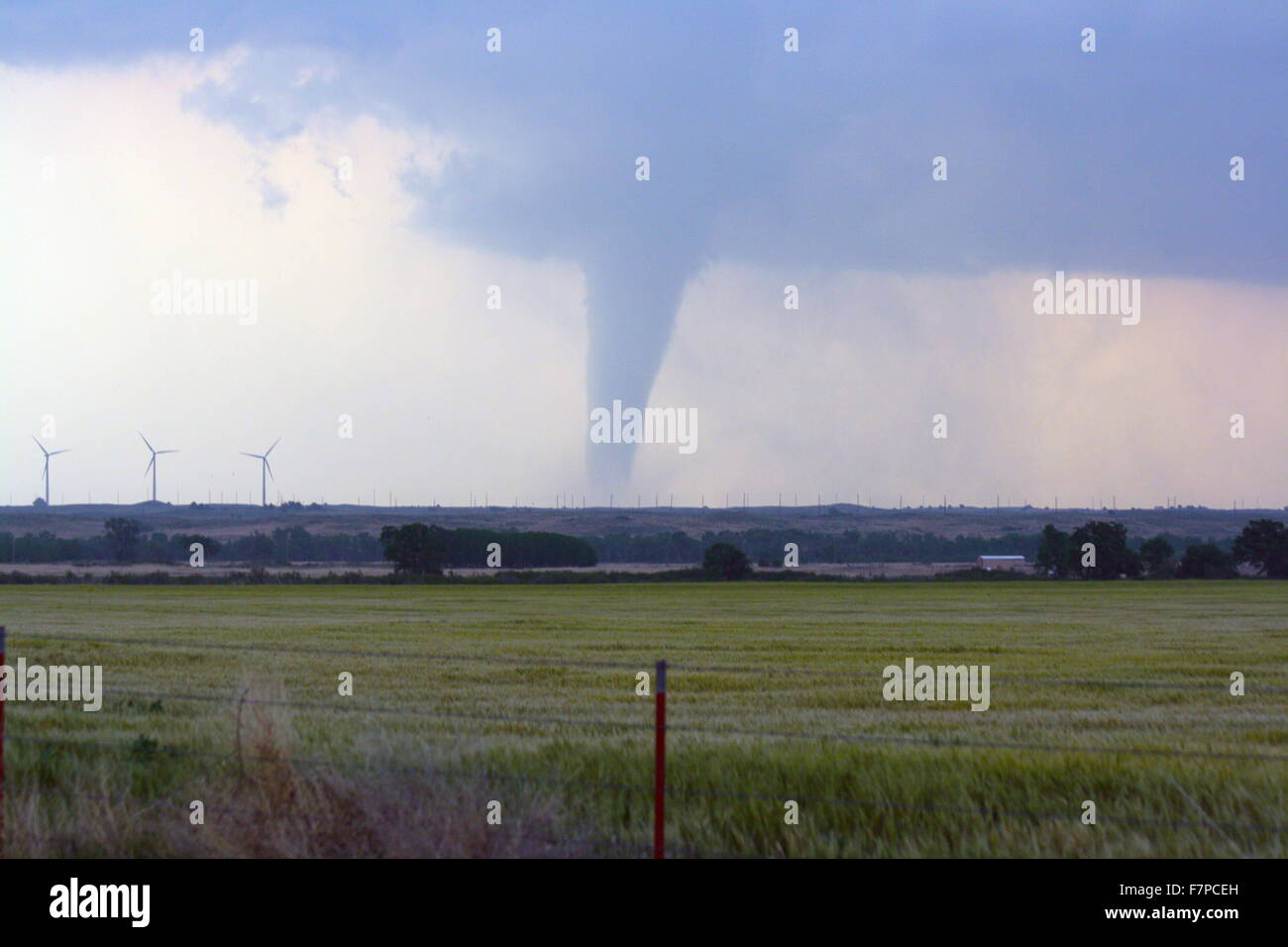 Tornado over the plains of Kansas, USA. May 23-May 24 2008 - Stock Image