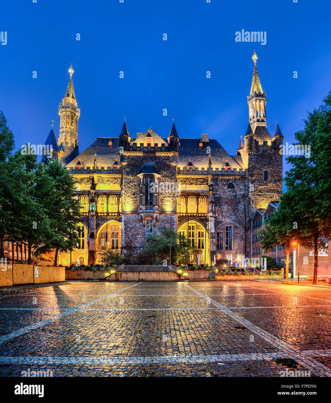 Town Hall, Aachen,  North Rhine-Westphalia, Germany - Stock Image