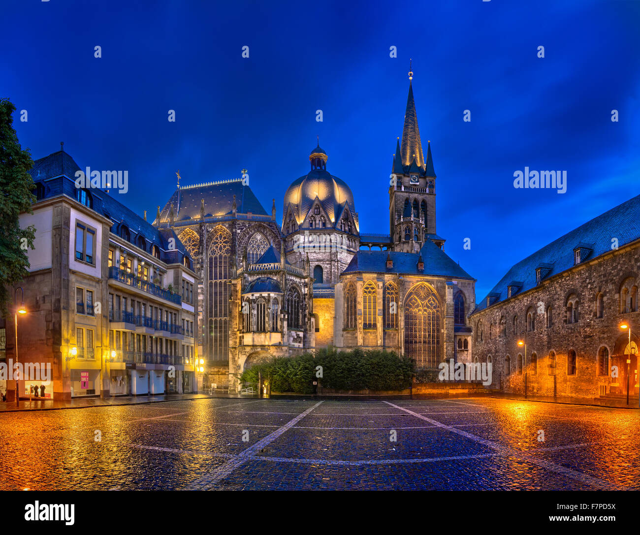 Aachen Cathedral, North Rhine-Westphalia, Germany - Stock Image