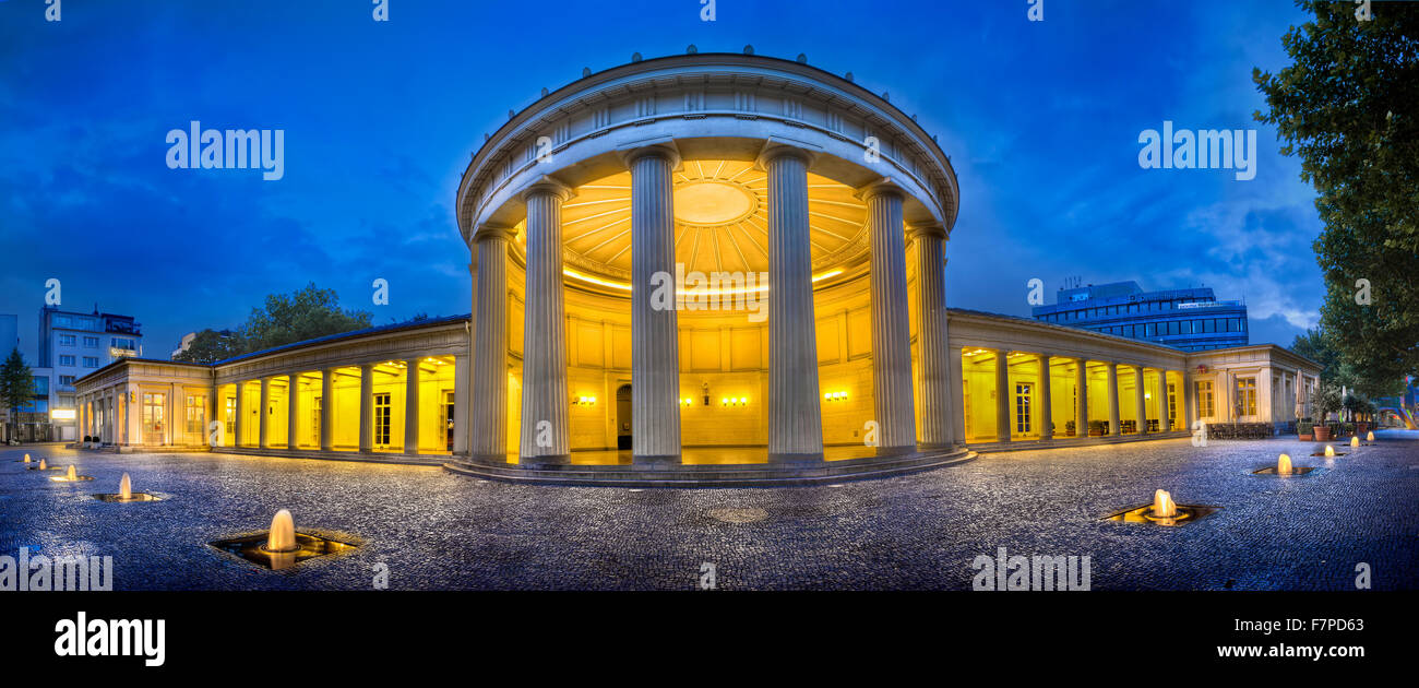Elisenbrunnen with mineral spring, Aachen, North Rhine-Westphalia, Germany, Europe - Stock Image