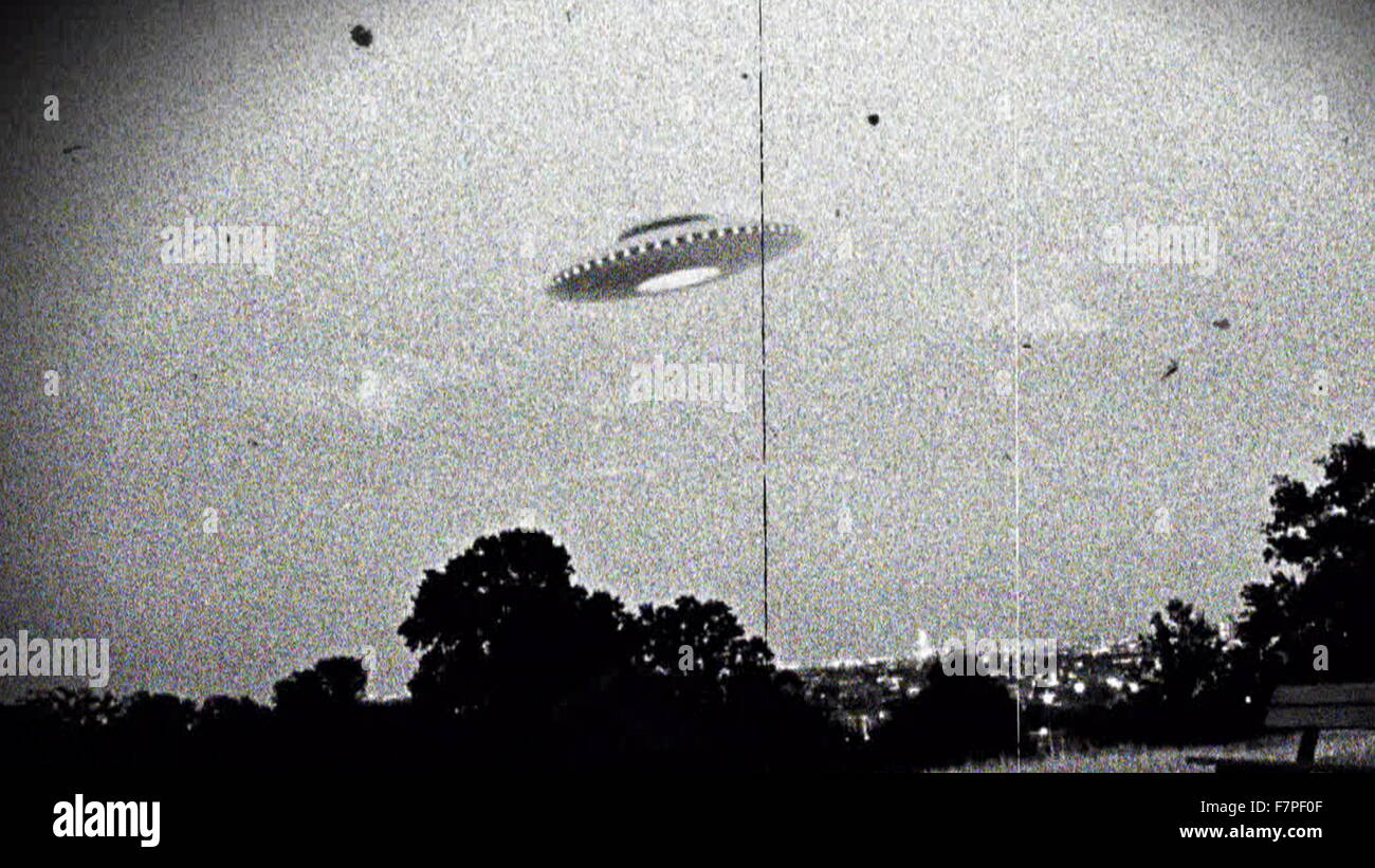 Photograph of the supposed Westall UFO encounter where more than 200 students and teachers at two Victorian state - Stock Image