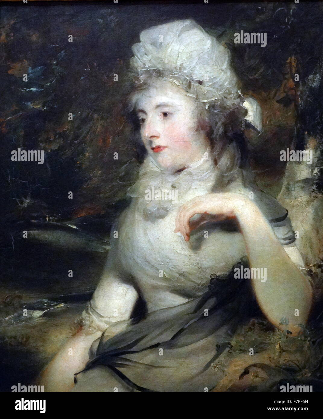Portrait of a Lady by Thomas Lawrence (1769-1830) English portrait painter. Dated 1800 - Stock Image