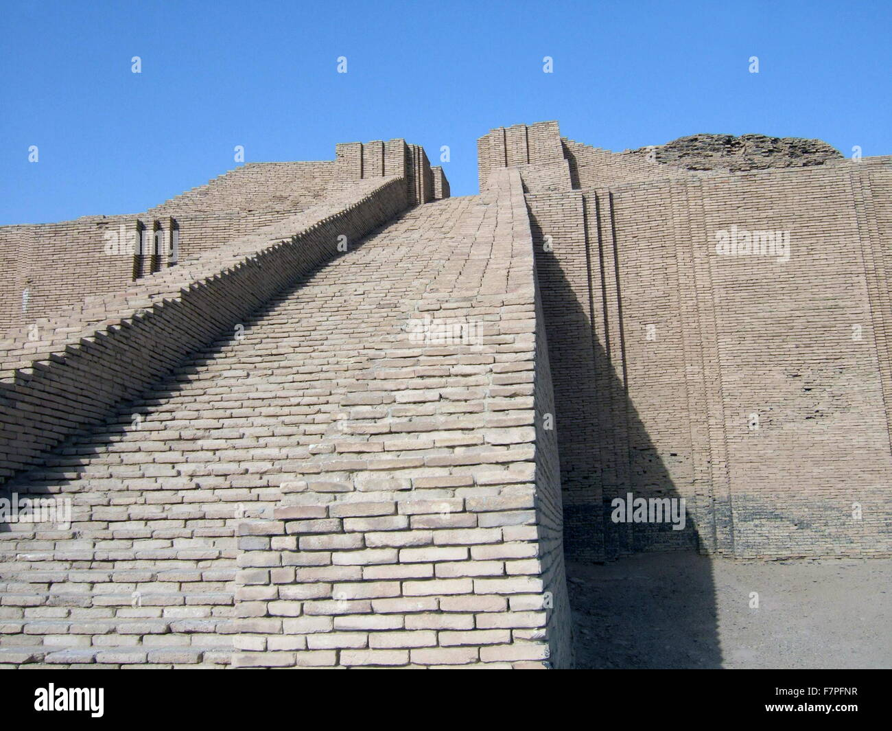 Reconstructed Babylonian structure. Dated 2015 - Stock Image