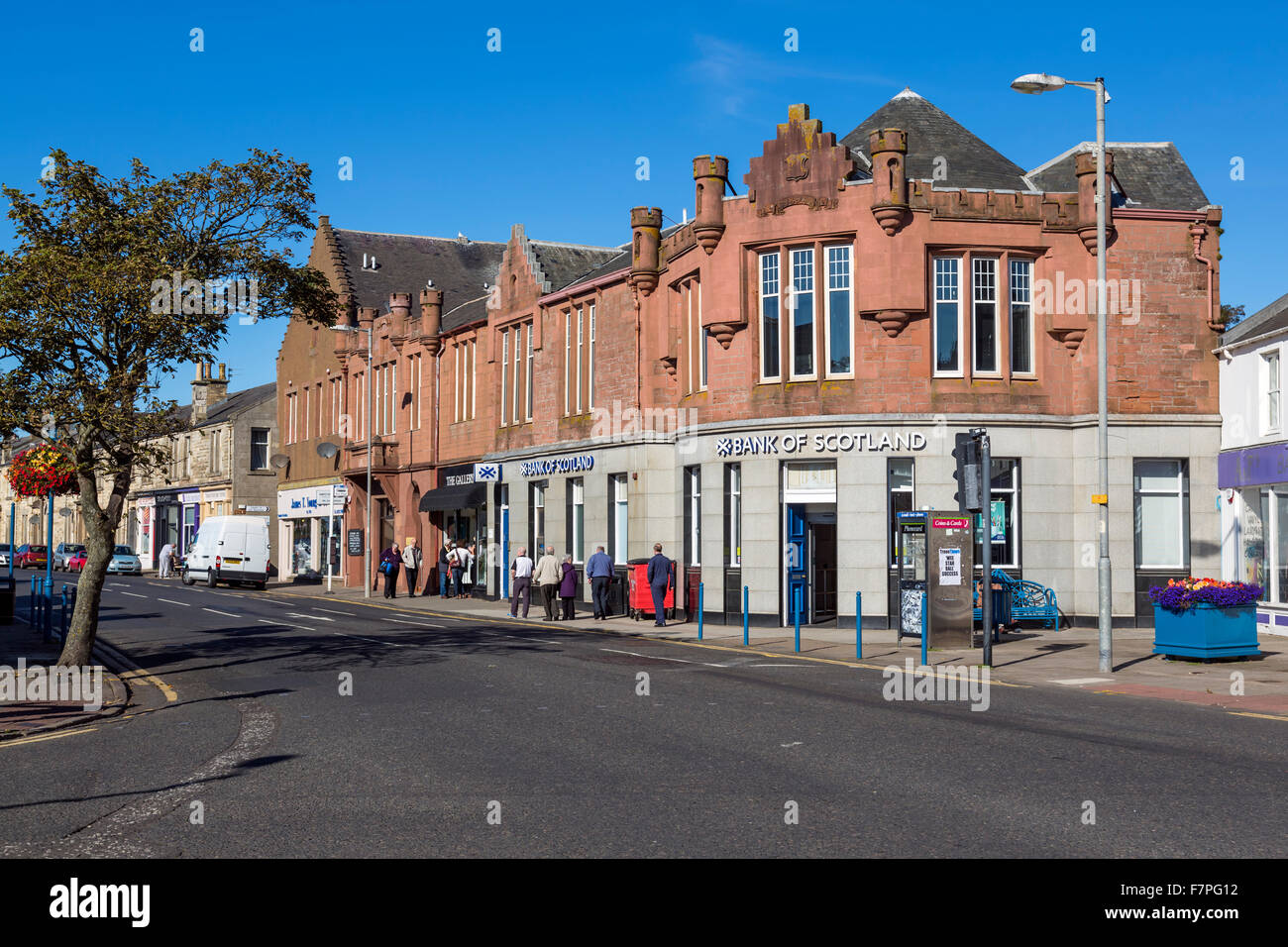 Templehill in the seaside town of Troon in Ayrshire, Scotland, UK - Stock Image