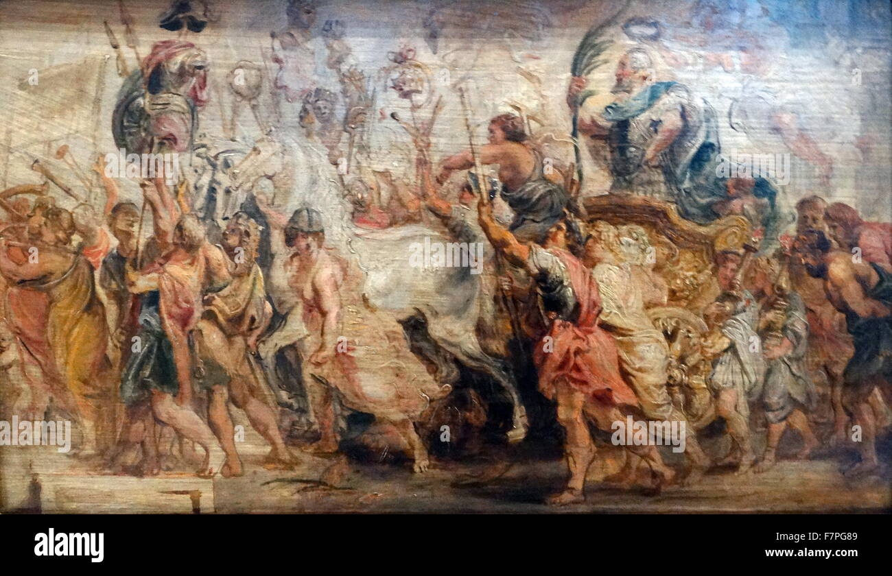 The Triumphal Entry of Henry IV Into Paris by Sir P.P. Rubens (1577-1640) - Stock Image