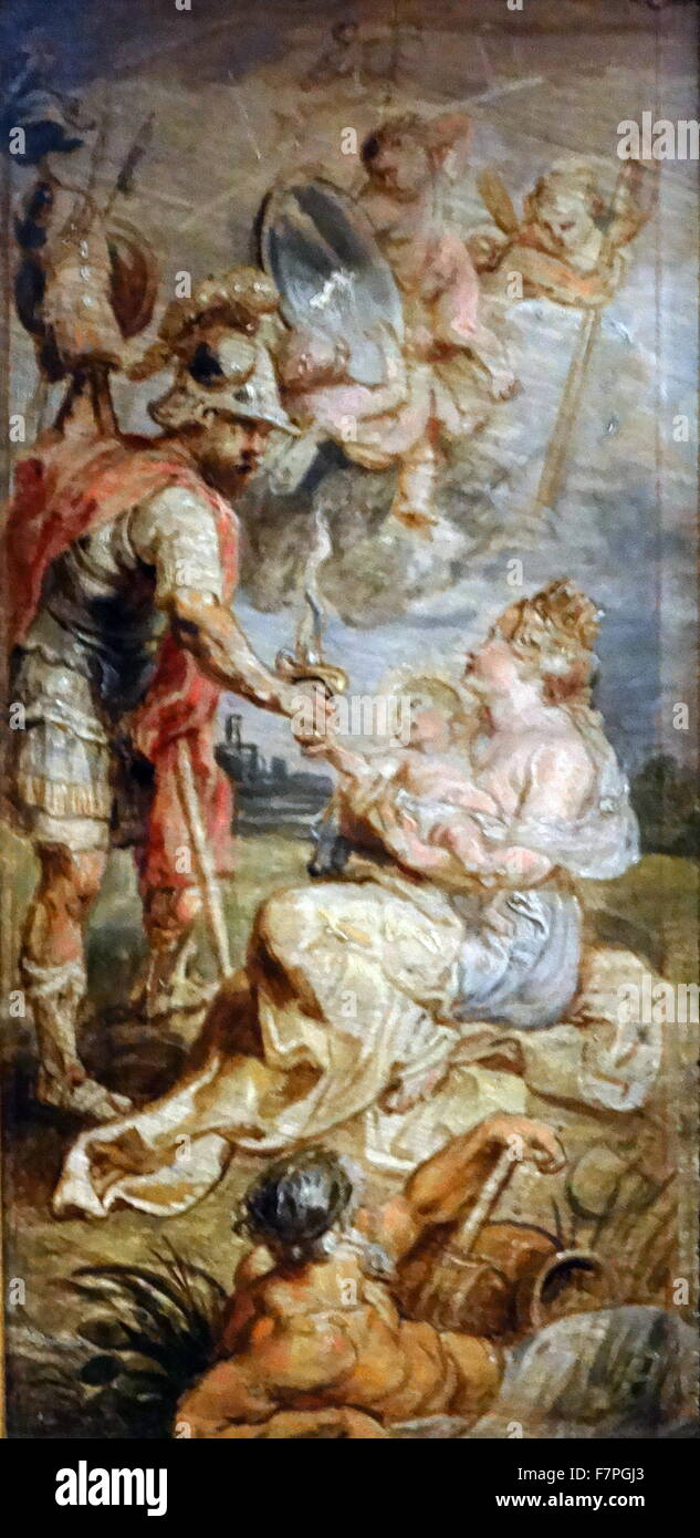 The Birth of Henri IV of France by Peter Paul Rubens. - Stock Image