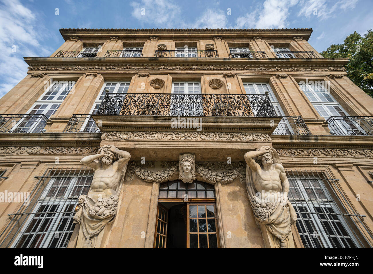 facade of Pavillon Vendome, Aix en Provence, France - Stock Image