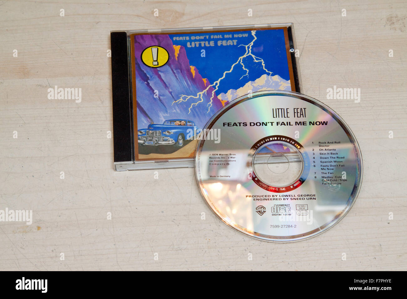 CD and case of  Little Feat's 1974 album 'Feats Don't Fail Me Now' - Stock Image